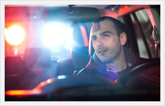 Man Being Pulled Over by Police