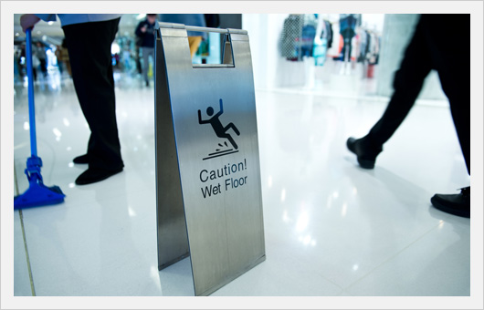 Slip & Fall Caution Wet Floor Sign