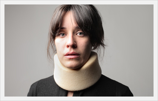 Woman Suffering Whiplash Pain
